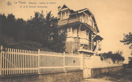 Kykhillweg, La Panne, Villa 'La Mélusine', détruite (© Collection cartes postales, Yves Dumont - ARCHYVES)
