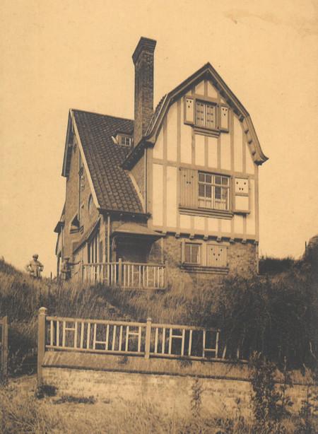 Konijnenweg, La Panne, Villa 'Minerva', détruite (© Collection cartes postales, Yves Dumont - ARCHYVES)