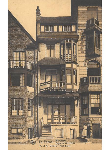 Zeedijk (oost), La Panne, Villa 'Ma Cabine', détruite (© Collection cartes postales, Yves Dumont - ARCHYVES)