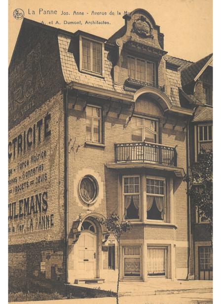 Zeelaan, La Panne, Villa 'Jos. Anne', détruite (© Collection cartes postales, Yves Dumont - ARCHYVES)