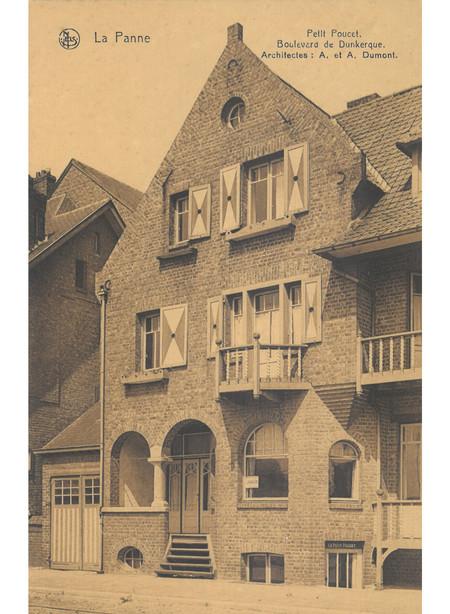 Duinkerkelaan, La Panne, Villa 'Petit Poucet', détruite (© Collection cartes postales, Yves Dumont - ARCHYVES)