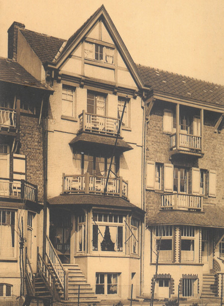 Koning Albertplein, La Panne, Villa 'Nancy', démolie (© Collection cartes postales, Yves Dumont - ARCHYVES)