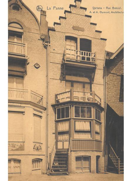 Bonzelstraat, La Panne, Villa 'Ypriana', démolie (© Collection cartes postales, Yves Dumont - ARCHYVES)