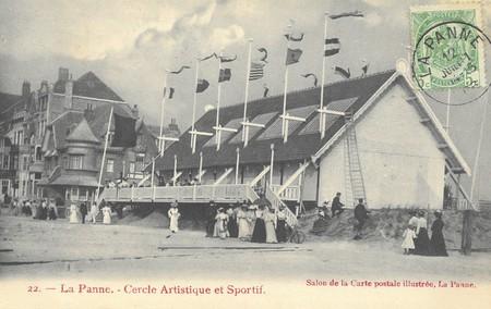 Zeedijk, La Panne, Casino vers 1910, détruit par le feu en 1912 (© Collection cartes postales, Yves Dumont - ARCHYVES)
