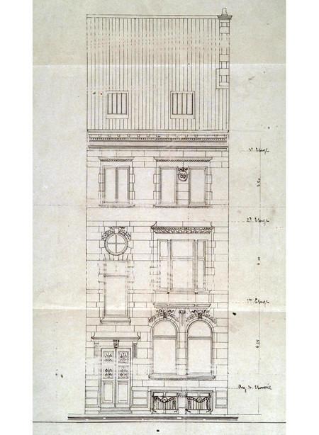 Rue Van Eyck 40, Bruxelles Extension Sud, élévation, AVB/TP 23722 (1906)