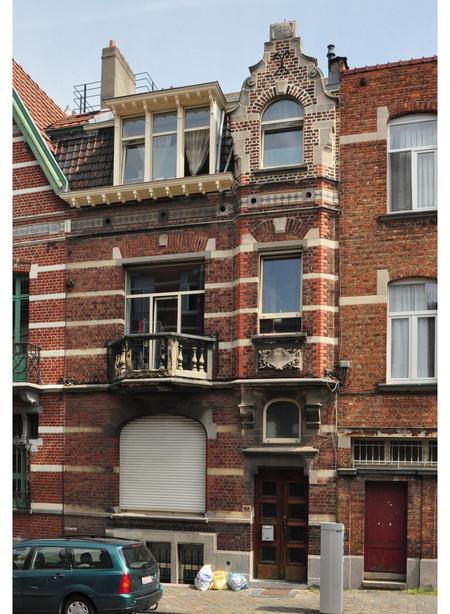 Rue Thomas Vinçotte 44, Schaerbeek, maison pour le peintre Herman Richier (© urban.brussels)