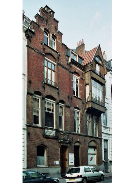 Rue d'Ecosse 17 et 17a, Saint-Gilles, maison personnelle de l'architecte Albert Dumont (© urban.brussels)