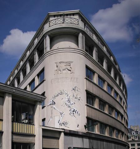 Rue Ravenstein 26-46, Bruxelles, Assurances Trieste (© T. Verhofstadt, photo 2019)