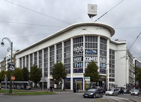 Place de l'Yser 7, Bruxelles, Citroën, showroom (© ARCHistory, photo 2017)