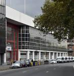 Place de l'Yser 7, Bruxelles, Citroën, ateliers, façade coté quai de Willebroeck (© ARCHistory, photo 2017)