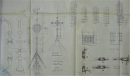 Parochiekerk Sint-Laurentius, Kemmel, détails de ferronneries (© Fondation CIVA Stichting/AAM, Brussels)