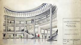 Galerie Ravenstein, Bruxelles, perspective intérieure de la rotonde (© Fondation CIVA Stichting/AAM, Brussels)