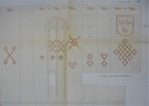 Parochiekerk Sint-Petrus, Loker, détail sur l'étude des signes d'appareillage (© Fondation CIVA Stichting/AAM, Brussels)