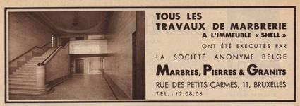 Rue Ravenstein 48-70 et Cantersteen 39-55, Bruxelles, Shell Building (© Bâtir, 22, 1935, p. 872)