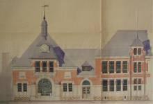 Chaussée de Tirlemont 85, Jodoigne, ancienne Ecole normale pour Jeunes Filles (© Fondation CIVA Stichting/AAM, Brussels)