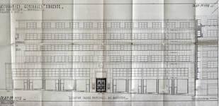 Rue Ravenstein 26-46, Bruxelles, Assurances Trieste, élévation, AVB/TP 50076, 1935