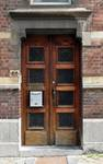 Rue Thomas Vinçotte 44, Schaerbeek, maison pour le peintre Herman Richier, entrée (© urban.brussels)