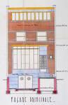 Avenue Franklin Roosevelt 184, Bruxelles Extension Sud, élévation AVB/TP 46676 (1936)