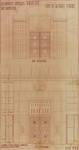 Rue Ravenstein 26-46, Bruxelles, Assurances Trieste, étude de la porte d'entrée, 1935 (© Fondation CIVA Stichting/AAM, Brussels)