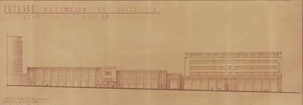 Rue Ravenstein 26-46, Bruxelles, Assurances Trieste, projet d'extension, 1938 (© Fondation CIVA Stichting/AAM, Brussels)