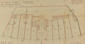 Rue Ravenstein 26-46, Bruxelles, Assurances Trieste, plan du rez-de-chaussée, 1934 (© Fondation CIVA Stichting/AAM, Brussels)
