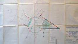 Rue Ravenstein 26-46, Bruxelles, Assurances Trieste, extension, plan de l'entrée de la salle de cinéma, AVB/TP 67196, 1955