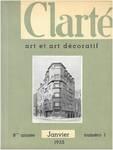 Rue Jean-Baptiste Meunier 44, Ixelles (© Clarté, 1, 1935, couverture)