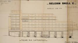 Rue Ravenstein 48-70 et Cantersteen 39-55, Bruxelles, Shell Building, élévation rue Cantersteen, 1931 (© Fondation CIVA Stichting/AAM, Brussels)