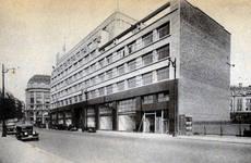 Rue Ravenstein 48-70 et Cantersteen 39-55, Bruxelles, Shell Building, perspective aile Cantersteen (© Bâtir, 22, 1934, p. 837)
