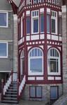 Zeedijk 55, La Panne, Villa 'Doudou' ou 'Titikot', premiers niveaux (© T. Verhofstadt, photo 2019)