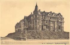 Geitenweg 5, 7, 9 et Zeedijk 81, 83, 85, 87, La Panne, ensemble de 7 villas  'Anita', 'Arc-en-ciel', 'Coup-de-Vent', 'Morning Star', 'Montreal', 'La Rafale' et 'La Falaise', dont la dernière fortement transformée (© Collection cartes postales, Yves Dumont - ARCHYVES)