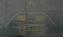 Lotissement à Saint-Idesbald (Coxyde), élévation d'une villa balnéaire de 1914, archives communales de Coxyde, bouwdossiers, nr. 93