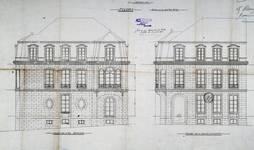 Chaussée de Vleurgat 193, Ixelles, élévation, ACI/Urb. 312-193