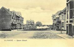 Koning Albertplein, La Panne, vue d'ensemble sur l'ancien square Bonzel. Dans l'enfilade de  gauche se trouvent les deux villas en question (© Collection cartes postales, Yves Dumont - ARCHYVES)