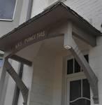 Duinkerkelaan 75, La Panne, Villa 'Les Poincétias', détail de l'auvent à l'entrée (© T. Verhofstadt, photo 2019)