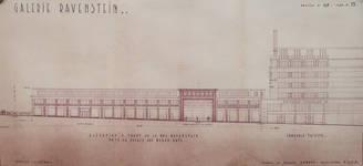 Galerie Ravenstein, Bruxelles, élévation côté rue Ravenstein, AVB/TP 67548 (1954)