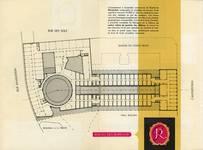 Galerie Ravenstein, Bruxelles, plan du niveau des bureaux, brochure de présentation de la galerie Ravenstein, 1957