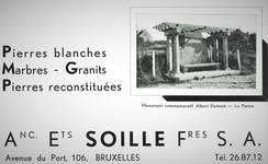 Albert Dumontlaan, La Panne, Monument commémoratif Albert Dumont (© Dumont, Dumont & Van Goethem, Quelques travaux d'architecture, [1939], page publicitaire 4)
