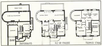 Avenue Jean et Pierre Carsoel 198, Uccle, villa Coene (© Bâtir, 67, 1938, p. 259)