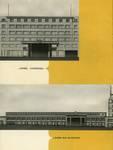 Galerie Ravenstein, Bruxelles, perspectives des entrées, brochure de présentation de la galerie Ravenstein, 1957