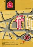 Galerie Ravenstein, Bruxelles, plan de situation, brochure de présentation de la galerie Ravenstein, 1958