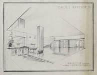 Galerie Ravenstein, Bruxelles, avant-projet de hall d'entrée des bureaux (© Collection Yves Dumont - ARCHYVES)