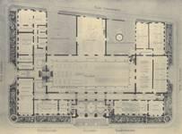 Boulevard Gustave Roulier 1, Charleroi, Université du Travail - Bâtiment Gramme, plan du rez-de-chaussée (© L'Emulation, 6, 1913, pl. 29)