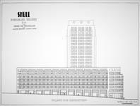 Rue Ravenstein 48-70 et Cantersteen 39-55, Bruxelles, Shell Building (© Dumont, Dumont & Van Goethem, Quelques travaux d'architecture, [1939], p. 28)