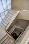 Rue Ravenstein 4, Bruxelles, siège de l'ancienne Fédération des Industries Belges - FIB, aujourd'hui FEB, cage d'escalier  (© ARCHistory, photo 2019)