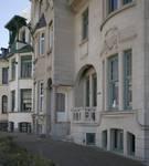 Geitenweg 5, 7 et 9, La Panne, rez-de-chaussée des villas 'Anita', 'Arc-en-ciel' et 'Coup-de-Vent' (© T. Verhofstadt, photo 2019)
