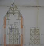 Parochiekerk Sint-Laurentius, Kemmel, coupe dans la tour (© Fondation CIVA Stichting/AAM, Brussels)