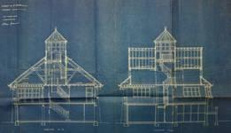 Dumontlaan 4, Koksijde, Villa 'Mieke Hill', coupes, Gemeentearchief Koksijde, bouwdossiers, nr. 26 (1923)
