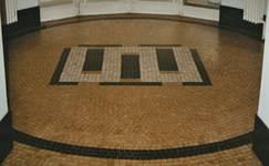 Square Solbosch 6, Ixelles, sol dans le hall d'entrée (© T. Verhofstadt, photo 2001)
