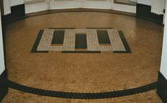 Solboschsquare 6, Elsene, vloer in inkomhal (© T. Verhofstadt, foto 2001)